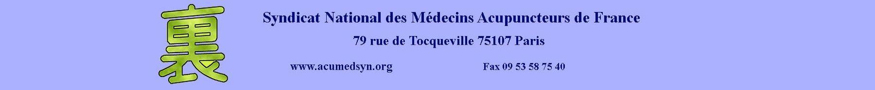 Syndicat National des Médecins Acupuncteurs de France
