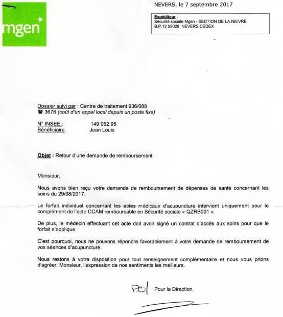lettre MGEN